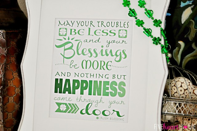 Irish Blessing Printable from Five Heart Home