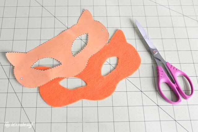 cutout Kung Fu panda mask