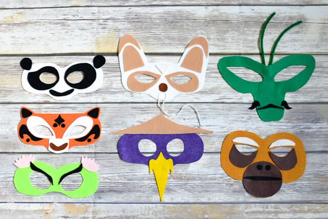 Kung Fu panda masks DIY