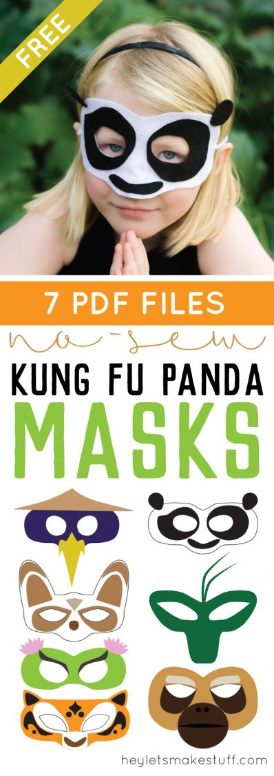 DIY Kung Fu panda mask pin collage