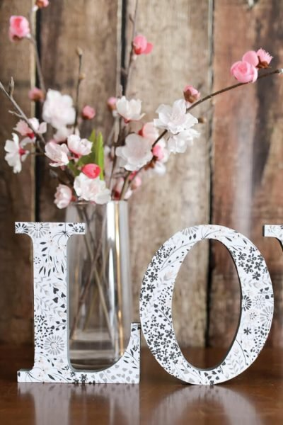 Make these simple, pretty LOVE letters in less than 15 minutes using wooden letters and pretty paper. An easy Valentine's Day craft.