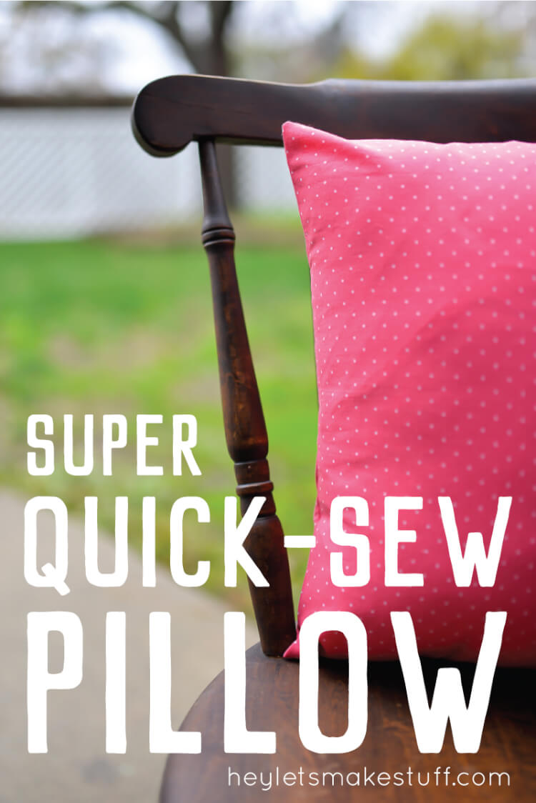 This easy-sew pillow case takes only 13 1/2 minutes to sew! This is a great beginner sewing project that anyone can do.