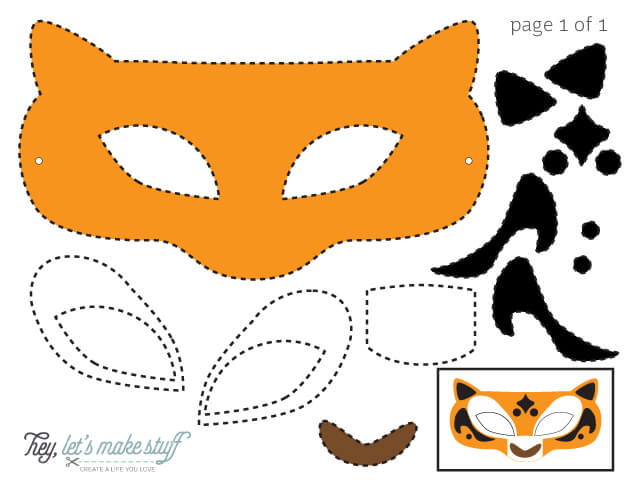 paper templates for DIY Kung Fu panda mask
