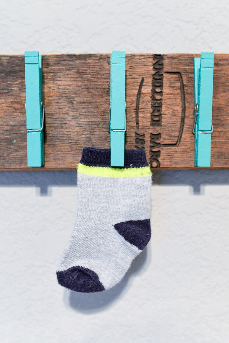 Tired of lost socks? Make it easier for them to find their sole mates by building this lost and found sock holder!