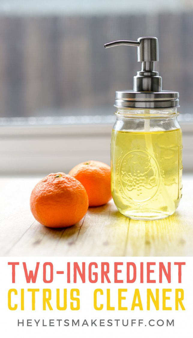 Make your own citrus cleaner with only two ingredients! Great for everyday clean up around the kitchen.
