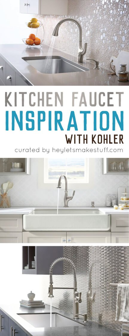 Looking for kitchen faucet ideas? Kohler has you covered with three beautiful kitchen faucet options for any style kitchen.
