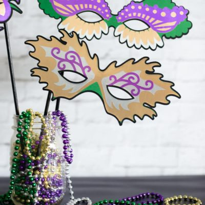 Mardi Gras Masks for Costumes and Photo Booth Props
