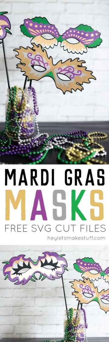 Mardi Gras masks pin image