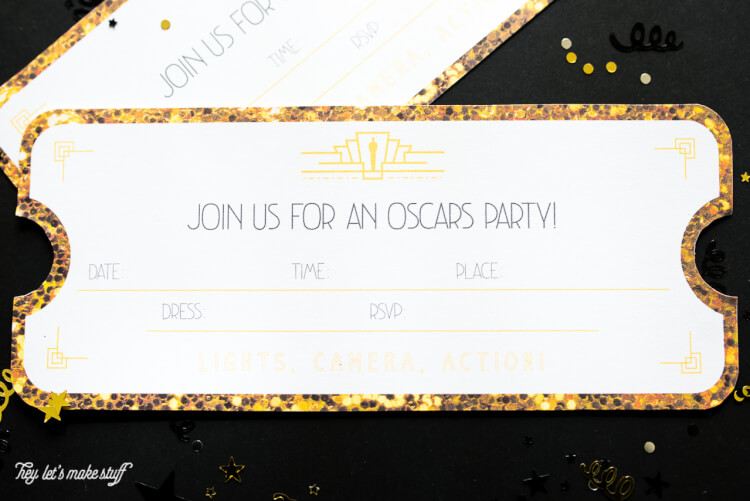 printable oscars party invitations hey let s make stuff