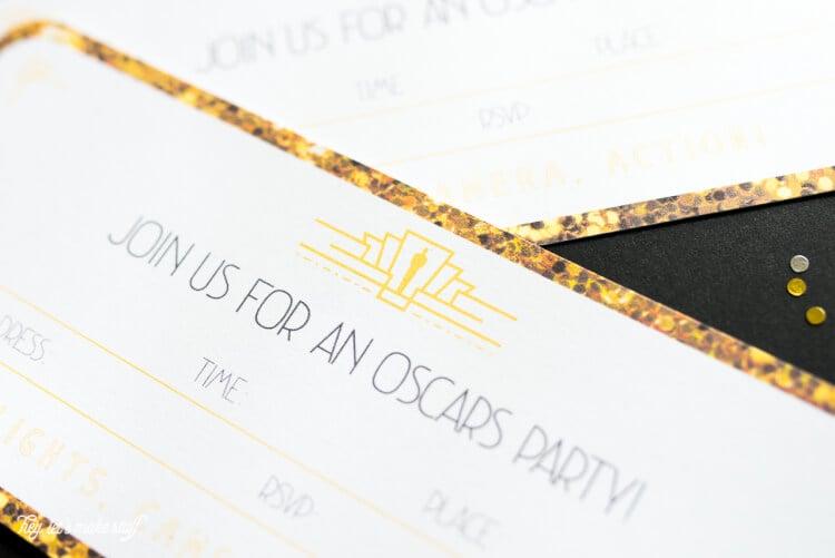 Printable Oscar Party Invitations Hey Lets Make Stuff – Oscar Party Invitations