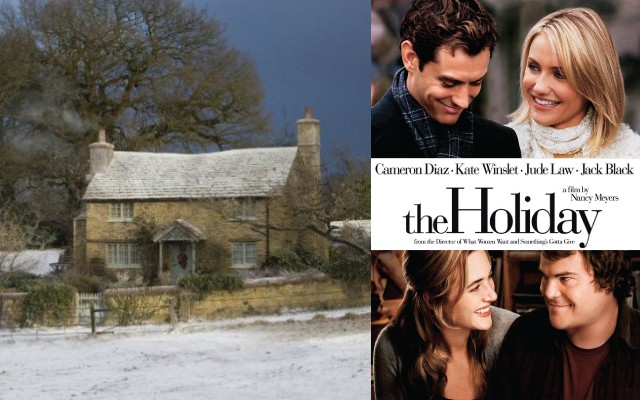 Visit Surrey England and stay in a cottage similar to the one from the Holiday! Plus 12 other getaways inspired by your favorite romantic comedies.