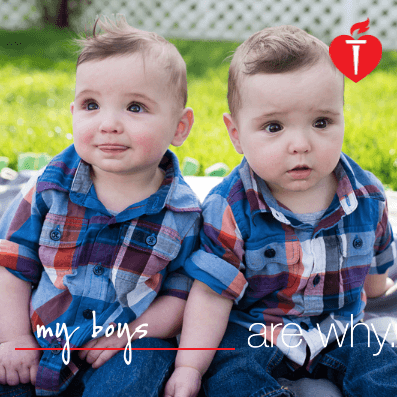 My beautiful twin boys are why I want to live a healthier life! #FamilyIsWhy #LifeIsWhy #ad