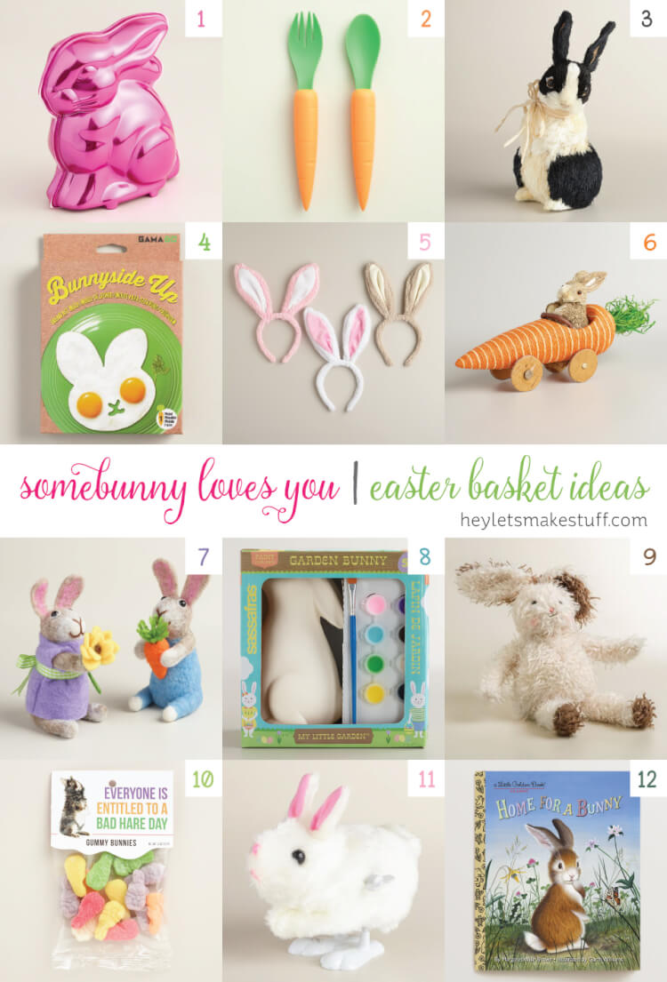 Love bunnies? Make the world's cutest Easter basket with items from @worldmarket! #worldmarkettribe