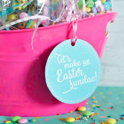 Easter Sundae Ice Cream Easter Basket