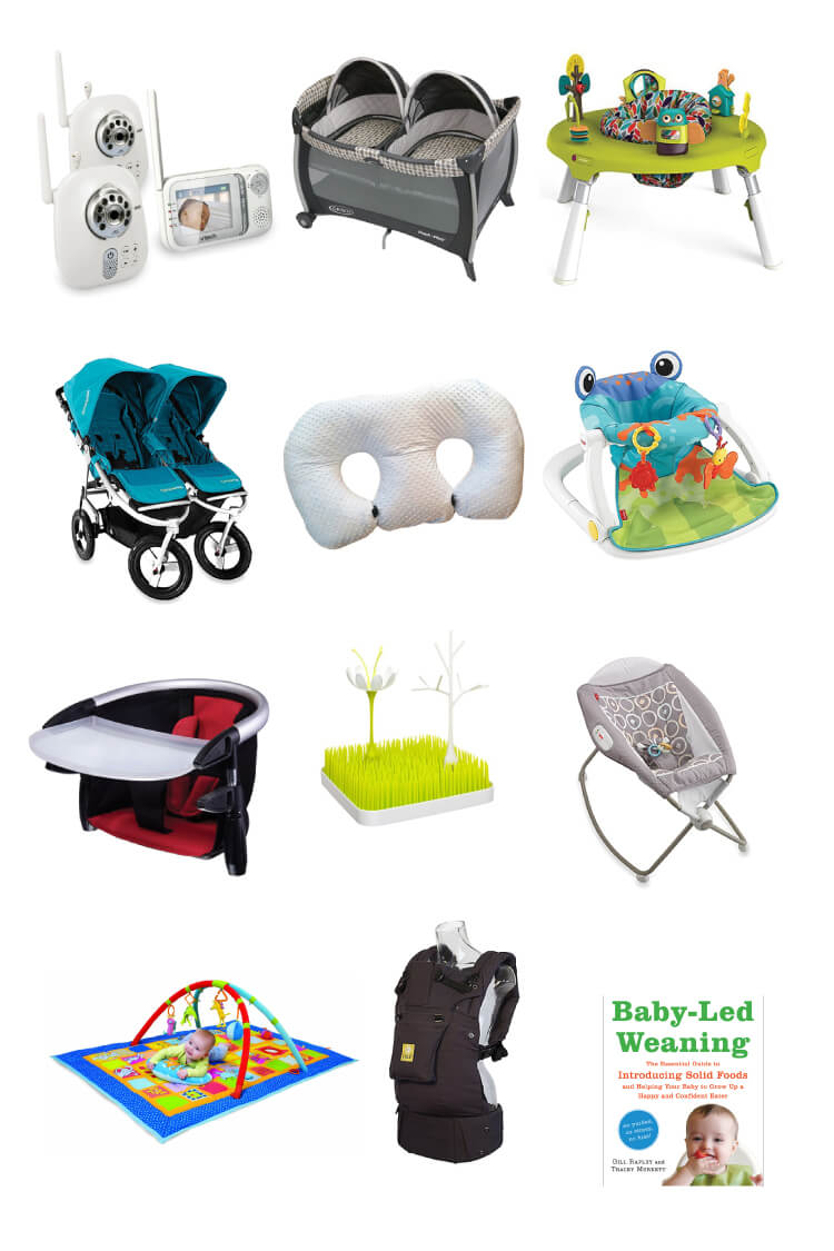 Here are my must-haves for a twin registry! Learn how we slept, fed, and played with our twins and all the baby gear you need (and don't need!).