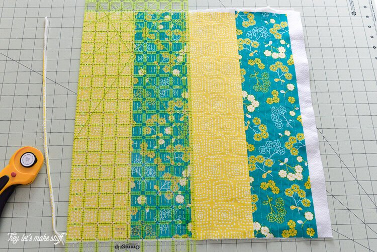 Want to learn Quilt-As-You-Go but don't know where to start? This big stripes panel will help you learn the technique and give you the confidence to try other QAYG patterns.