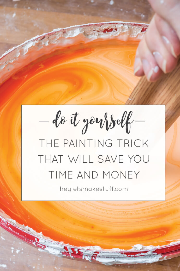 This one trick will save you both time and money when painting!