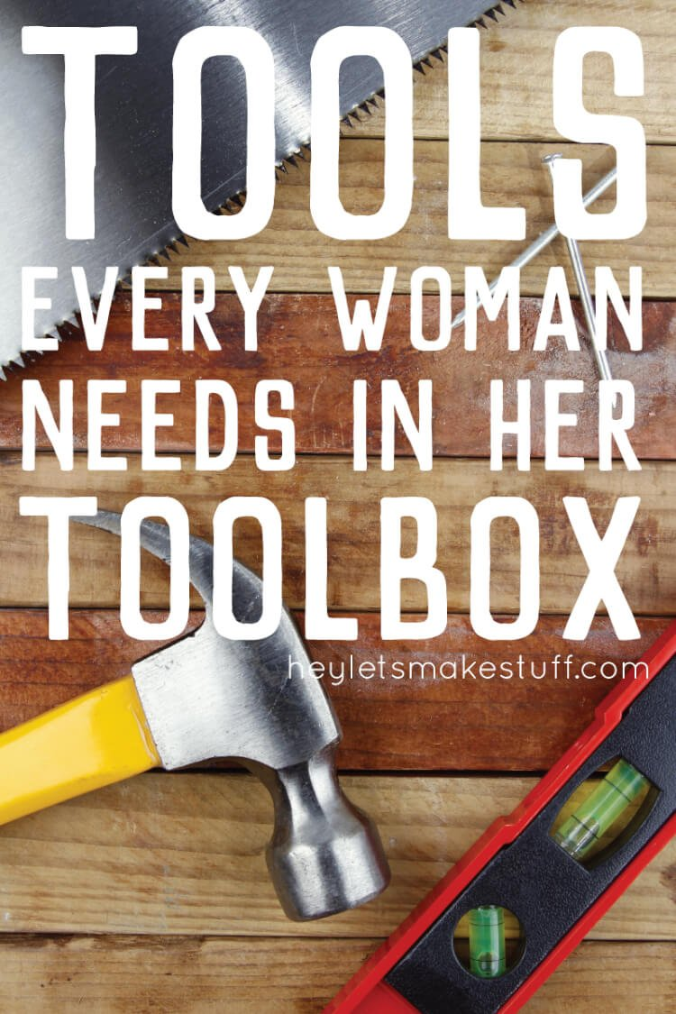 tools women needs in a toolbox pin image