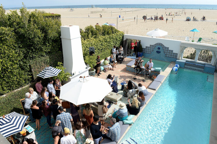 Cost Plus World Market - #CelebrateOutdoors beach party! With Heffron Drive, DIY Terrarium Table, delicious food, all sorts of beachy goodness.
