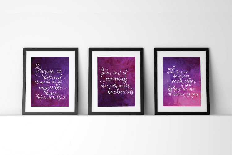 "Download these printable ""Alice Through the Looking Glass"" quotes"