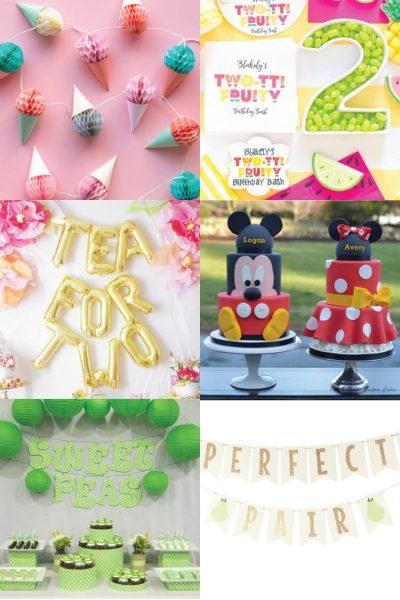 Throwing a birthday party for twins is double the fun! Here are a bunch of party ideas that are perfect for a pair.