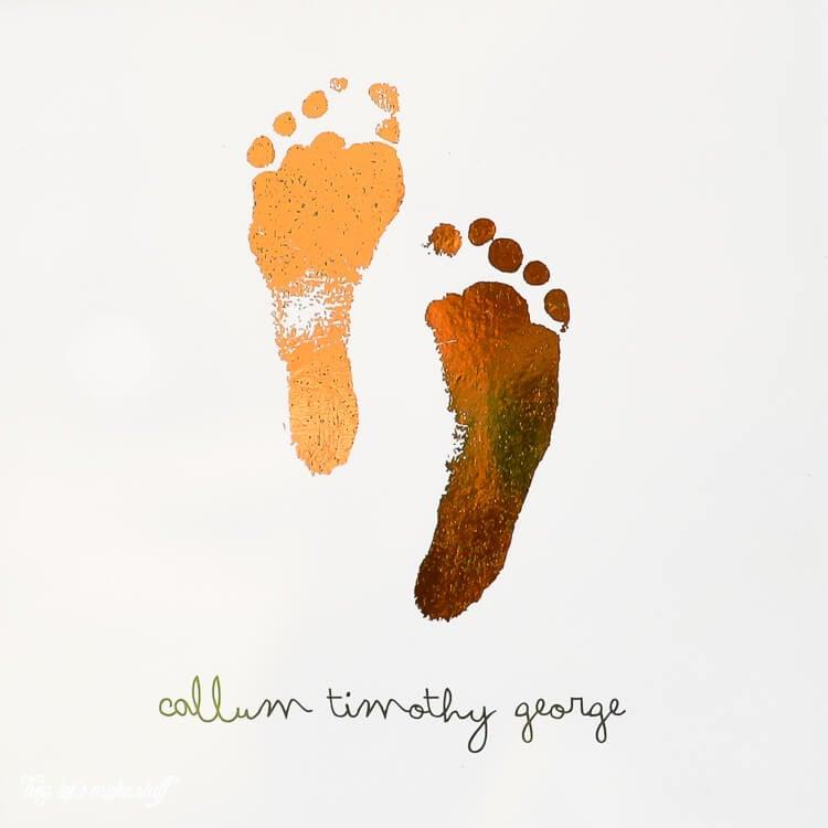 foiled footprints