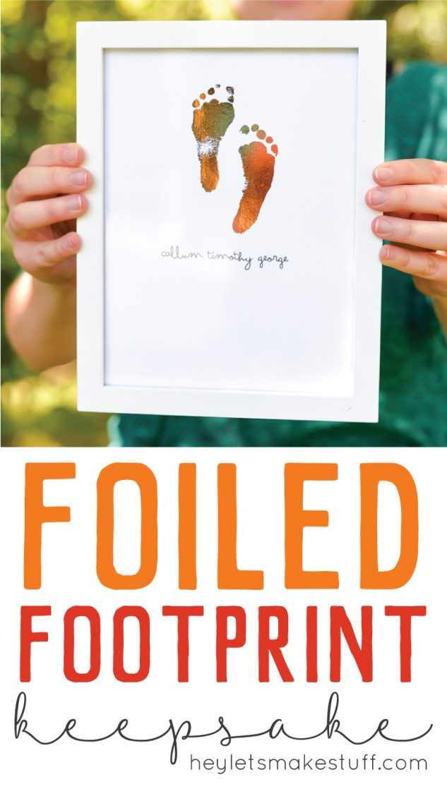 foiled footprint art pin image