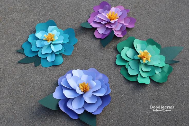 The best paper flower tutorials hey lets make stuff 20 amazing paper flower tutorials mightylinksfo Gallery