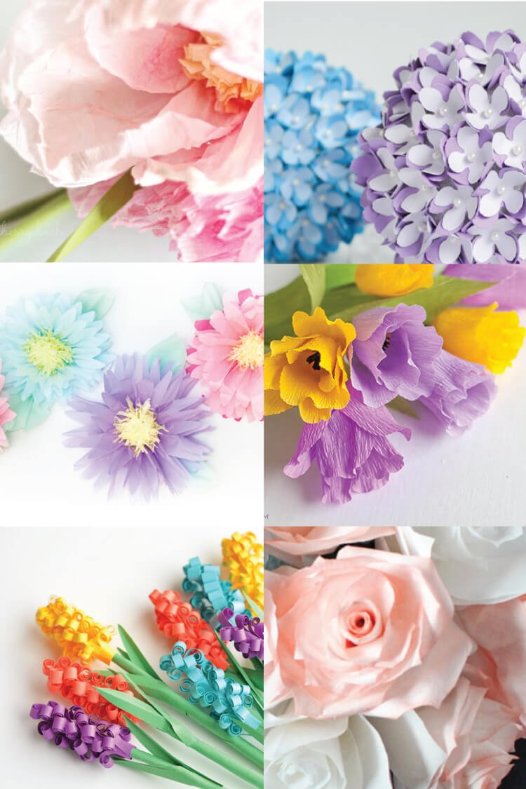 How to make tissue paper flowers four ways hey lets make stuff 20 stunning paper flower tutorials dhlflorist Choice Image