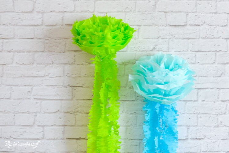 tissue paper jellyfish