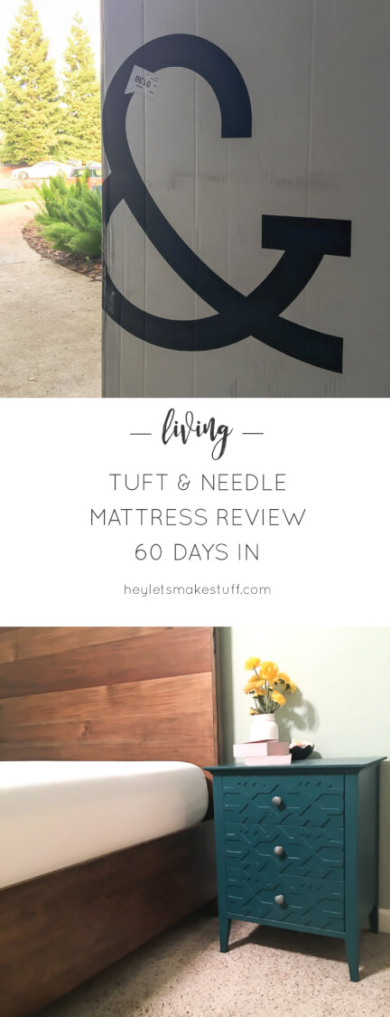Is buying a mattress online for just $600 actually worth it? Here is our review of the Tuft & Needle foam mattress, sixty days in.