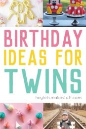 Throwing a birthday party for twins is double the fun! Here are a bunch of twin birthday party themes that are perfect for a pair.