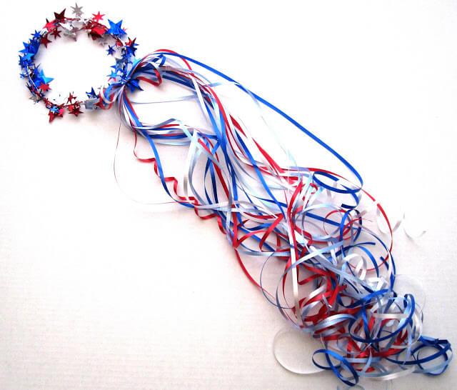patriotic ribbon crown