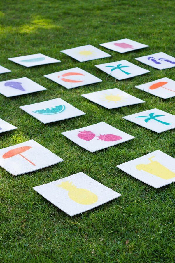 outdoor lawn memory game