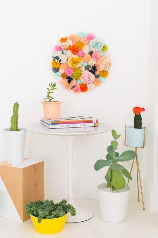 Pom Pom Wall Hanging - Sugar & Cloth
