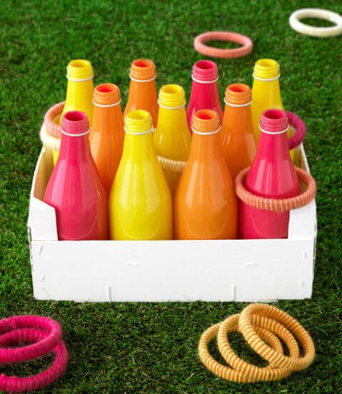 DIY ring toss game for outdoor party