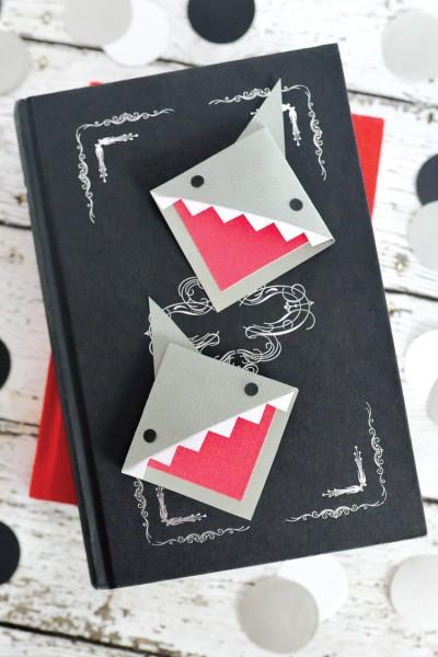 Shark Week: Corner Shark Bookmark