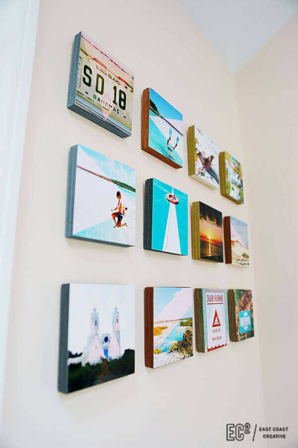 Wood Block Instagram Wall