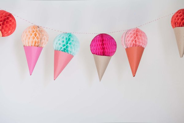 twin birthday party theme - double scoop