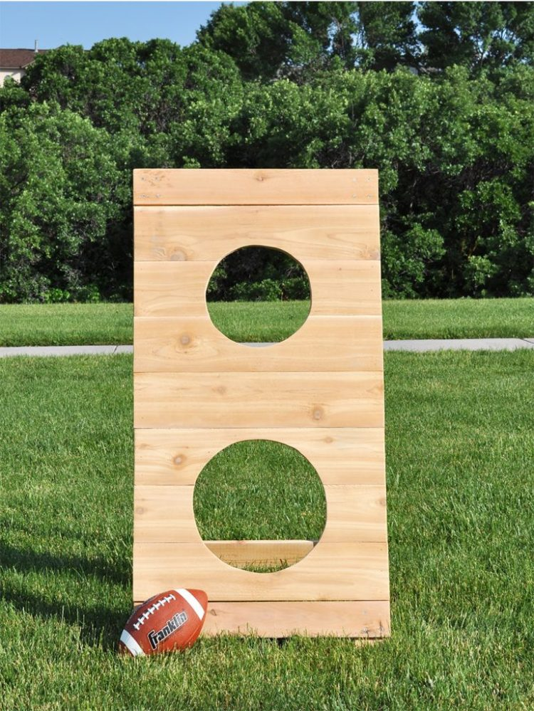 outdoor party games - football toss