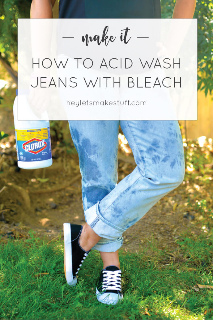 It's super simple to harken back to the 80s and acid wash your jeans. Rubber bands and bleach -- that's pretty much all you'll need! Check out this tutorial and other fun details from our Ready Player One Book Club. #gathernow {ad}