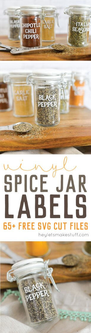 spice labels on spice jars pin image