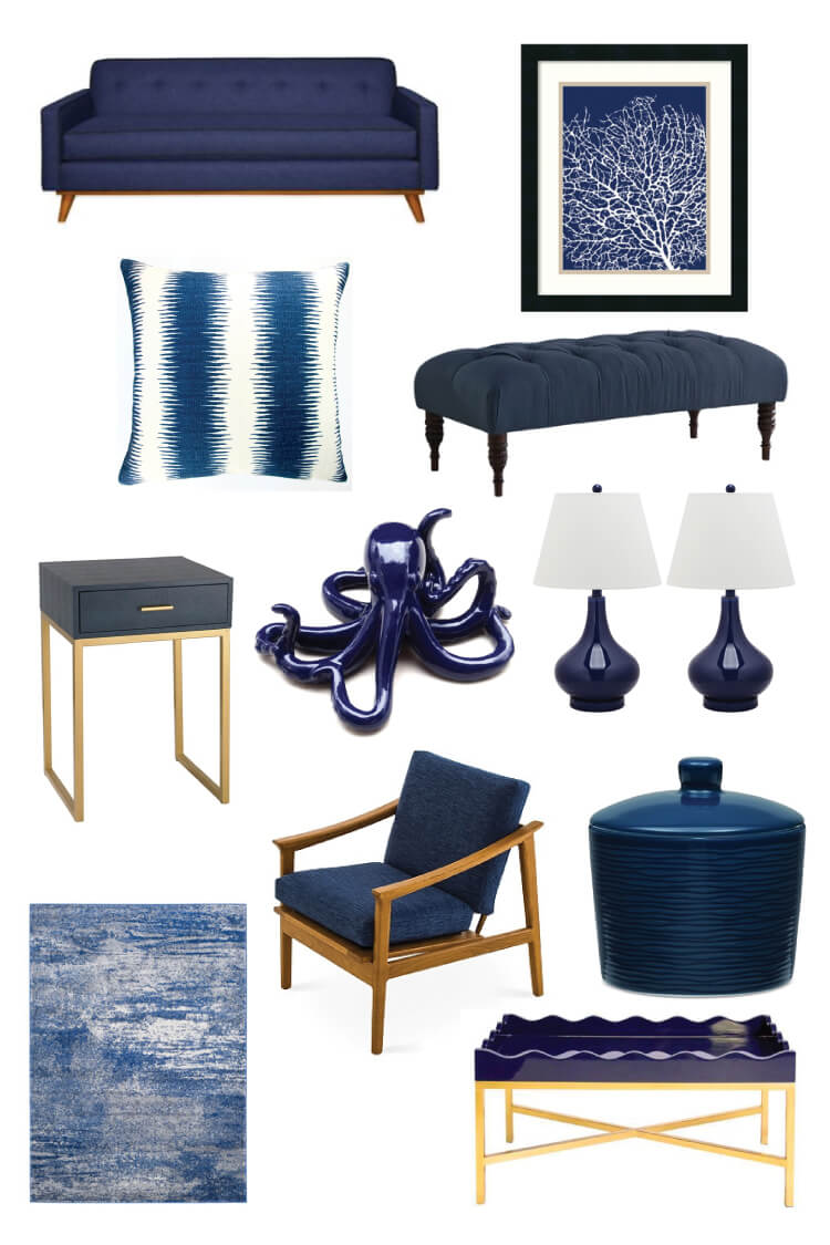 Navy is a classic color that will add elegance and style to any decor! Pair it with bright colors like citron, pink, or orange—or keep it dramatic with darker tones.