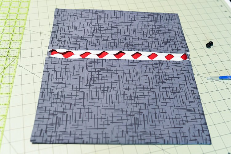 easy-sew shark clothespin holder - turn it around and iron flat