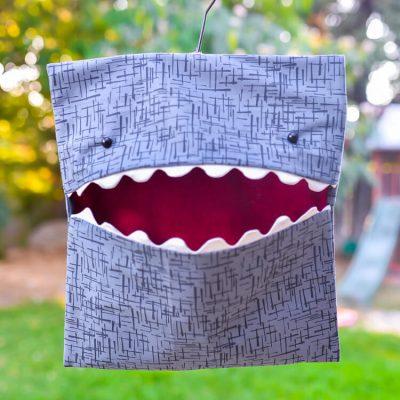 Shark Clothespin Bag