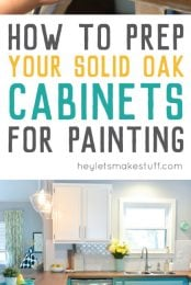 The process for preparing cabinets for painting is just as important as the process for actually painting them. Here's how we prepared ours!