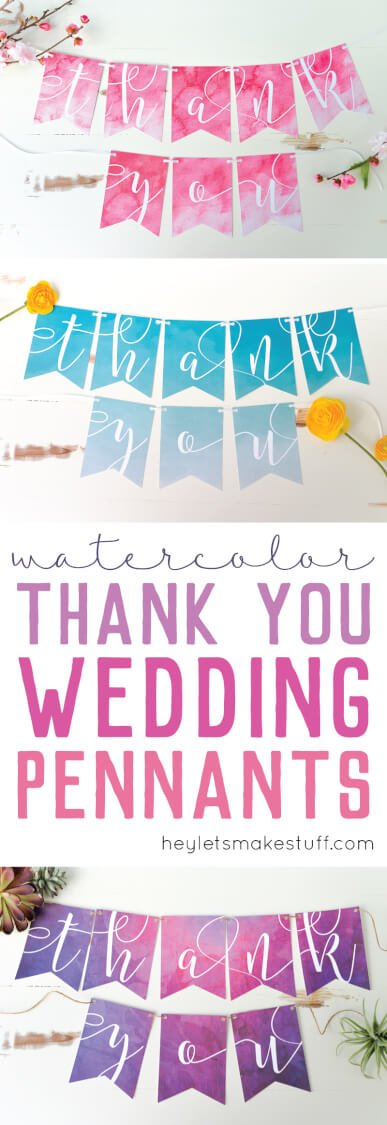 DIY wedding banners using Cricut Explore's Print Then Cut feature pin image