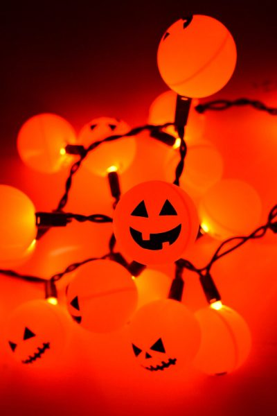 Halloween Jack O' Lantern Ping Pong Ball Lights