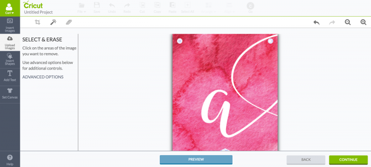 screenshot of banner using the Cricut Explore's Print Then Cut feature