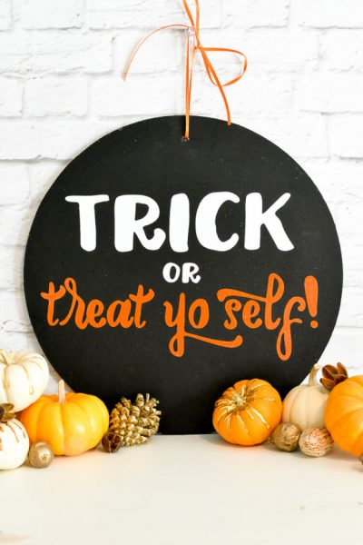 Trick Or Treat Yo Self Sign with Free SVG Cut Files